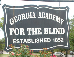 Georgia School for the Blind sign